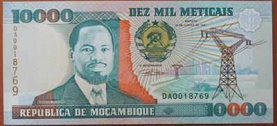 Мозамбик 10000 метикалов 1991 год