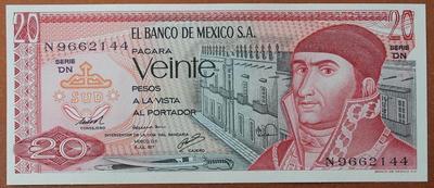 Мексика 20 песо 1977 год