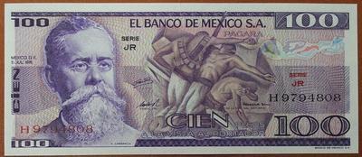 Мексика 100 песо 1978 год