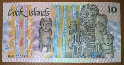 острова Кука 10 долларов 1987 год