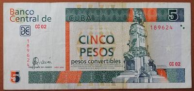 Куба 5 конвертируемых песо 2006 год