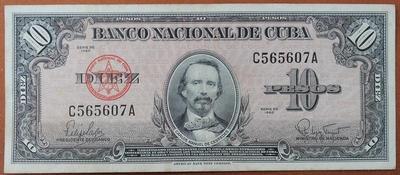 Куба 10 песо 1960 год