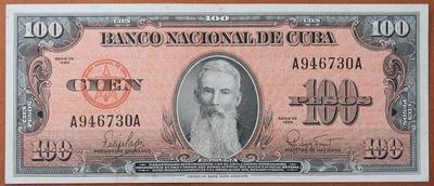Куба 100 песо 1959 год