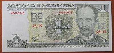 Куба 1 песо 2010 год