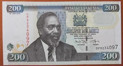 Кения 200 шиллингов 2010 год
