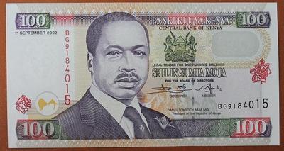 Кения 100 шиллингов 2002 год
