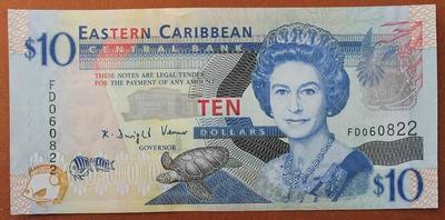 Восточно-Карибские-Государства 10 долларов 2008 год