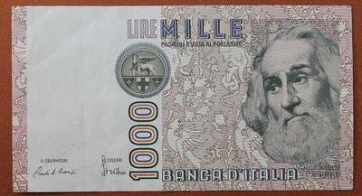 Италия 1000 лир 1982 год