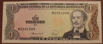 Доминикана 1 песо 1988 год