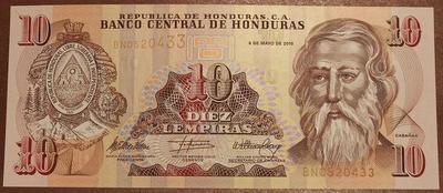 Гондурас 10 лемпира 2006 год