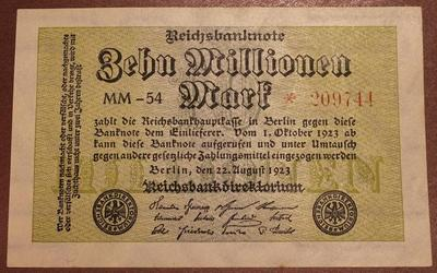 Германия 5000000 марок 1923 год