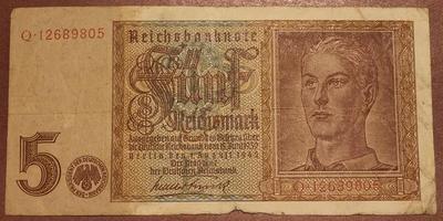 Германия 5 марок 1939-1945 год