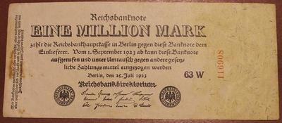 Германия 1000000 марок 1923 год
