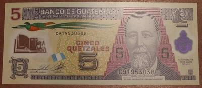 Гватемала 5 кетцаль 2011 год