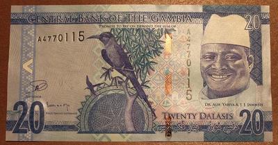Гамбия 20 даласи 2015 год