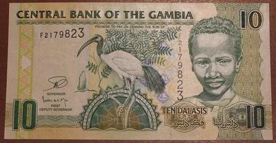 Гамбия 10 даласи 2006 год