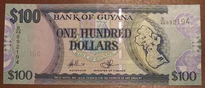 Гайана 100 долларов 1996 год