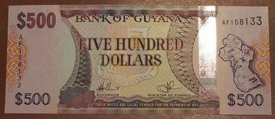 Гайана 500 долларов 2011 год