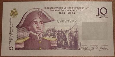 Гаити 10 гурд 2004 год