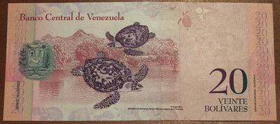 Венесуэла 20 боливар 2007 год