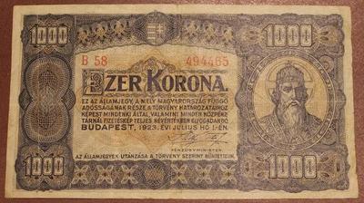Венгрия 1000 крон 1923 год