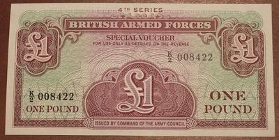 Великобритания ваучер(Вооруженные силы) 1 фунт 4 серия