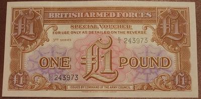 Великобритания ваучер(Вооруженные силы) 1 фунт 3 серия