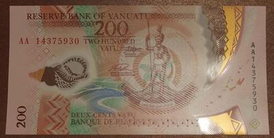 Вануату 200 вату 2014 год