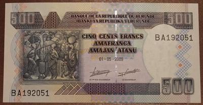 Бурунди 500 франков 2009 год