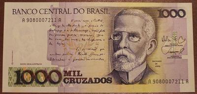 Бразилия 1000 крузадо 1987-1988 год