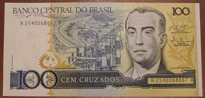 Бразилия 100 крузадо 1986-1988 год