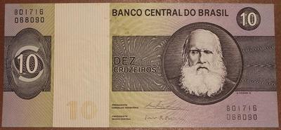 Бразилия 10 крузейро 1970-1980 год