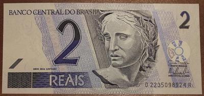 Бразилия 2 реала 2001 год