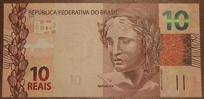 Бразилия 10 реал 2010 год