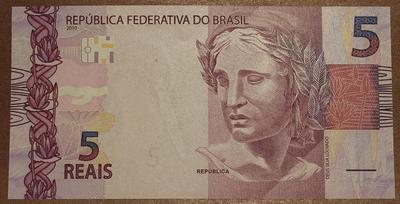 Бразилия 5 реал 2010 год