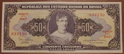 Бразилия 5 сентаво на 50 крузейро 1966-1967 год