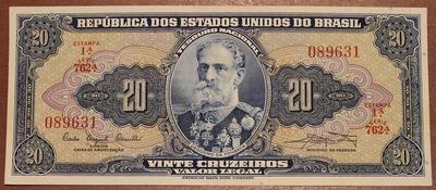 Бразилия 20 крузейро 1961-1962 год XF