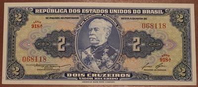 Бразилия 2 крузейро 1953-1960 год