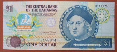 Багамские острова 1 доллар 1992 год