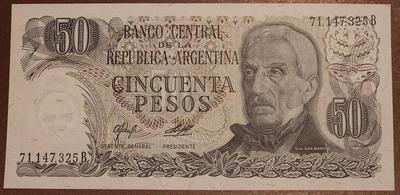 Аргентина 50 песо 1976-1983 год