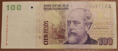 Аргентина 100 песо 2003 год
