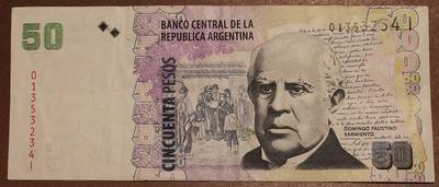 Аргентина 50 песо 1999-2003 года