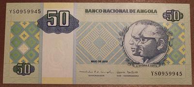 Ангола 50 кванза 2010 год