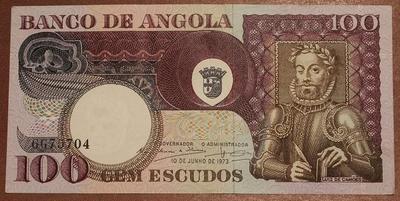 Ангола 100 эскудо 1973 год