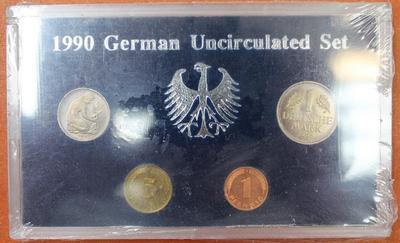 ФРГ набор 4 монеты 1990 год