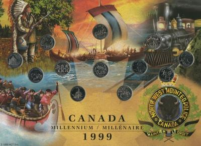 """Набор монет Канада """"Миллениум"""" 25 центов 12 шт."""