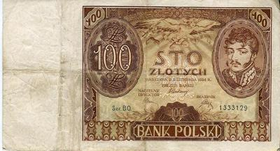 Польша 100 злотых 1934 год