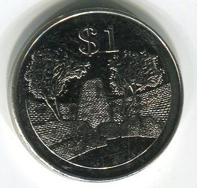 Зимбабве 1 доллар 2002 год