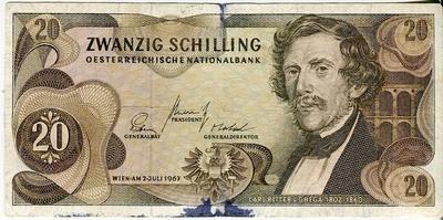 Австрия 20 шиллингов 1967 год