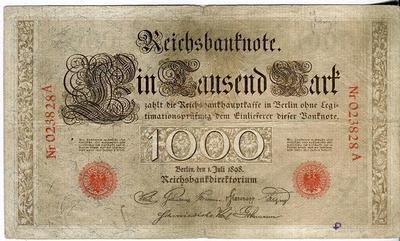 Германия 1000 марок 1898 год